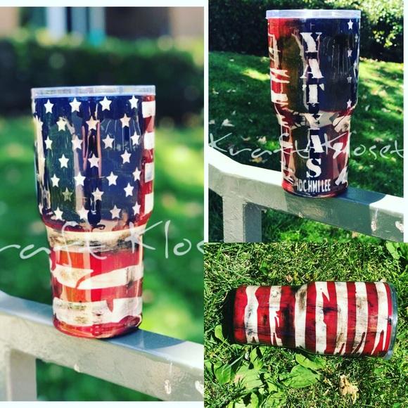 HOGG Accessories | American Flag Yeti Tumbler Custom Made